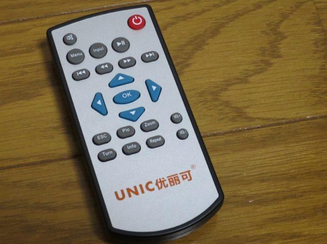 UNIC UC40 プロジェクター リモコン
