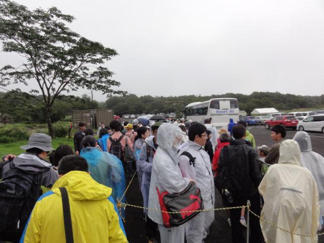 総合火力演習 海苔川駐車場のバス乗り場