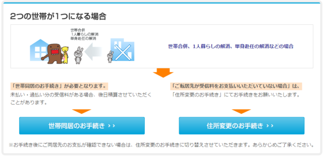NHK受信契約引っ越しの手続きについて
