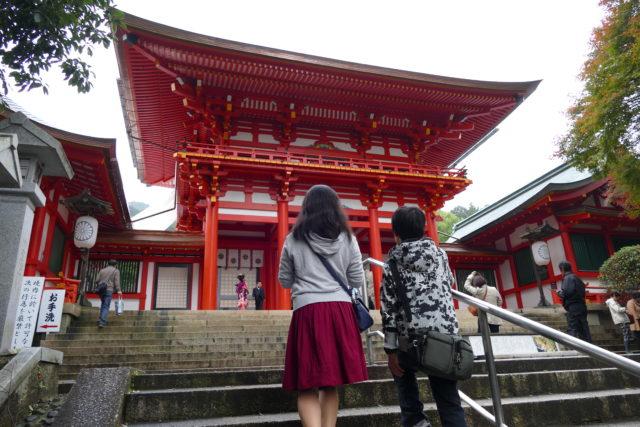 DMC-FZ1000で撮影 近江神宮の楼門