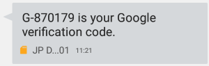 Google2段階認証 確認コード