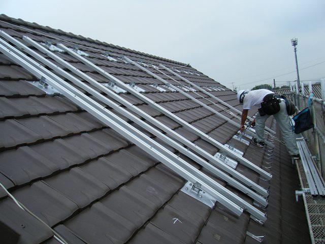 太陽光パネル 架台取付