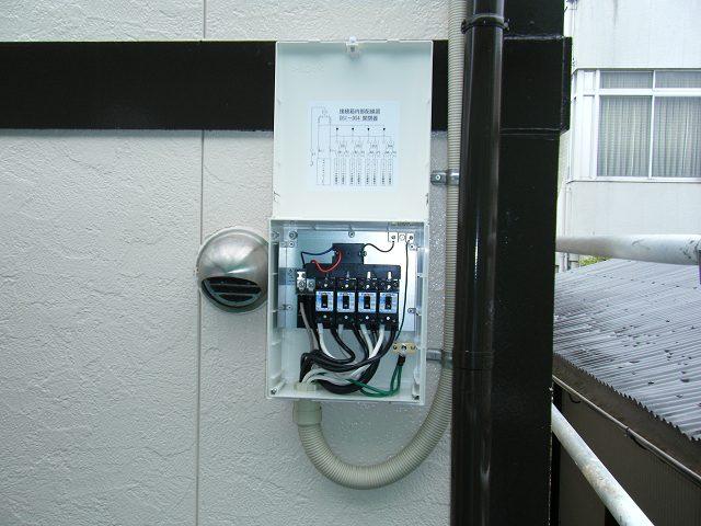 接続箱設置