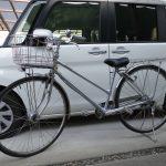 タントに27インチの通学用自転車を積んで学校へ行こう!