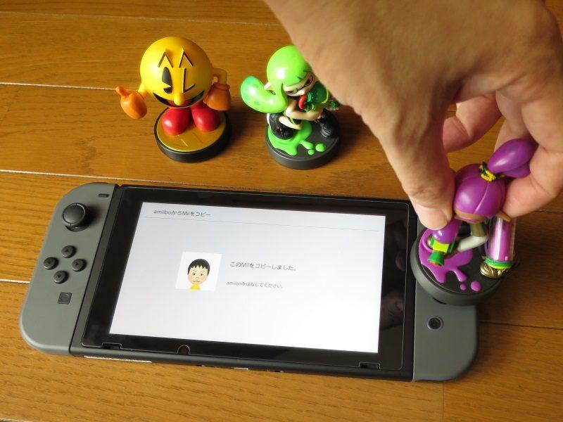 Switch amiiboからMiiをコピー