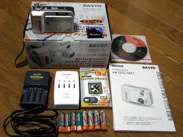 SANYO DSC-MZ1付属品等