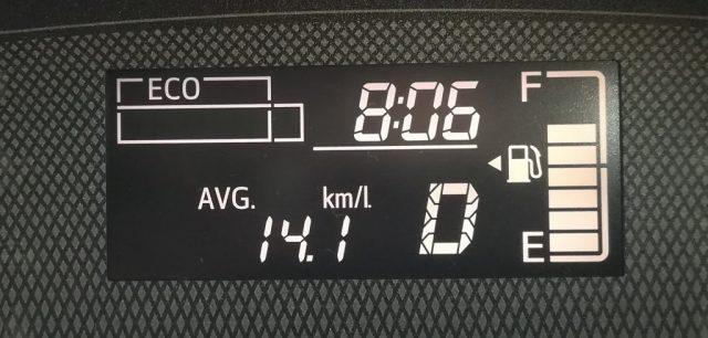 シエンタ 平均燃費計