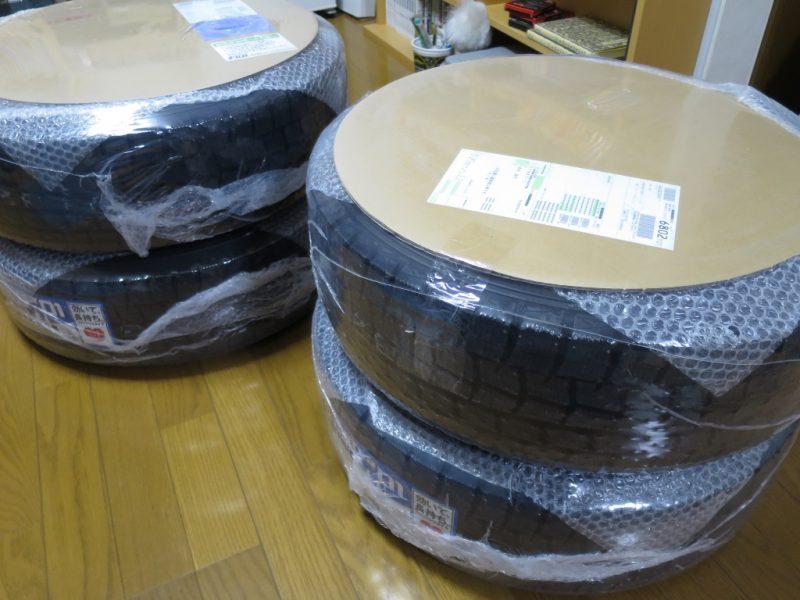 フジコーポレーション ネット通販 タイヤの梱包状態