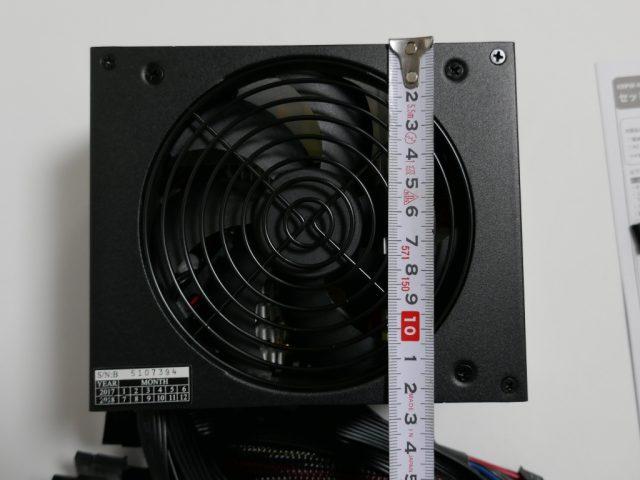 KRPW-N600W/85+のサイズ(奥行き)