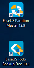 EaseUS Partition Masterのインストール完了