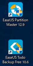 EaseUS Partition Masterのインストール完了