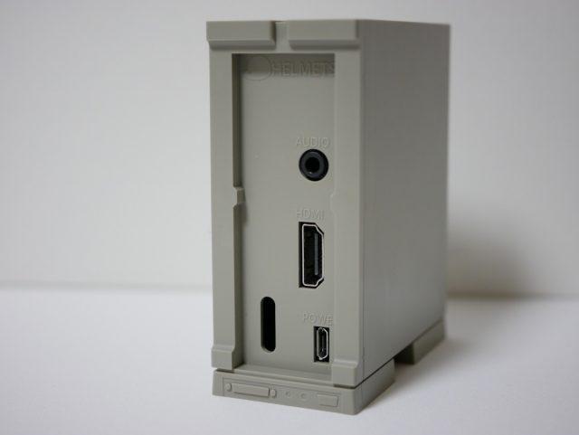 Raspberry Pi 2/3用 X68000風ケース 背面
