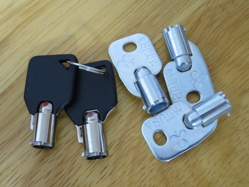 三木商事 テーブル筐体の鍵
