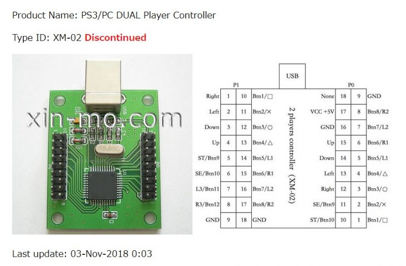 xin-mo PS3/PC DUAL Player Controller XM-02