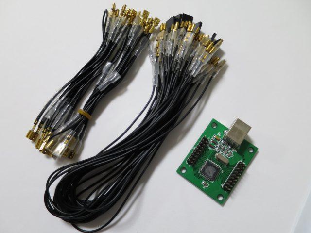 アーケード筐体のコントロールパネルをUSB化するアダプター