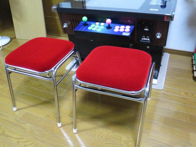 ゲーセン椅子 赤色 新品