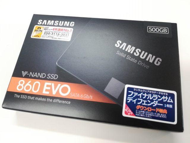 samsung ssd 500gb 860evo ファームウェア
