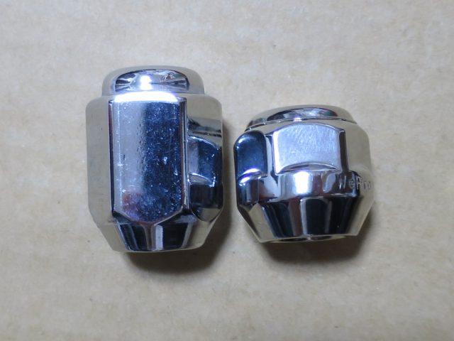 シエンタ用ナットとタント用のショートナットを比較