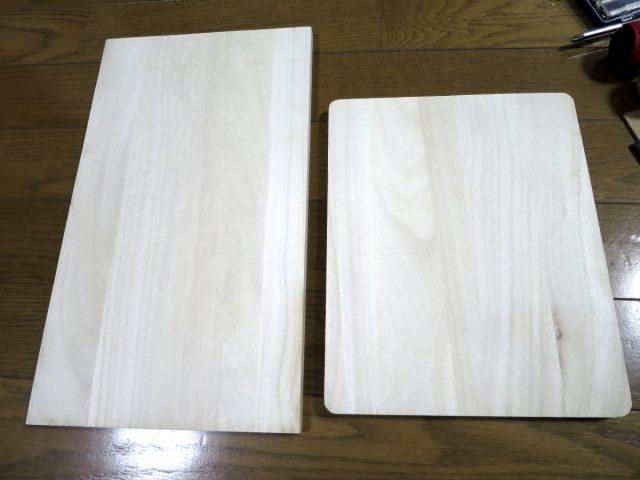 自作壁掛けスピーカースタンドの材料①「木板」