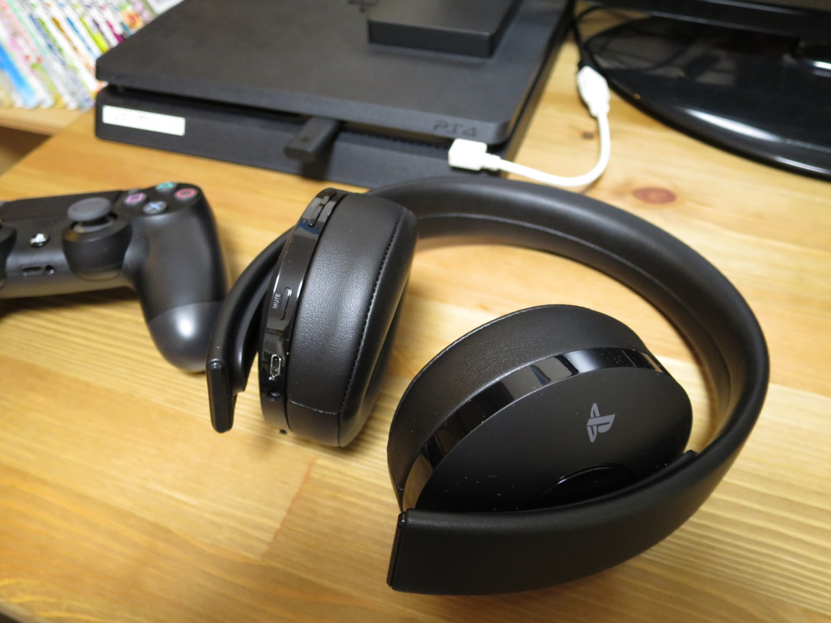 PS4とワイヤレスサラウンドヘッドセット CUHJ-15007