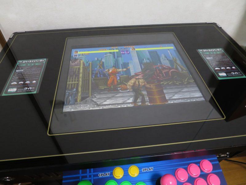 テーブル筐体に液晶モニター(LCD-AD192SEDSW)を取り付け