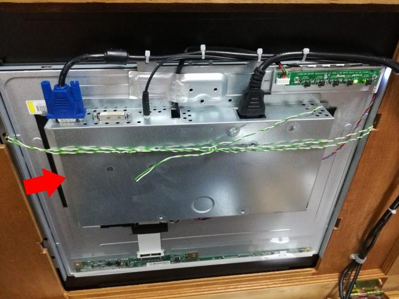 LCD-AD192SEDSの背面ユニット