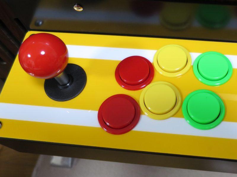 テーブル筐体コントロールパネル レバーとボタン