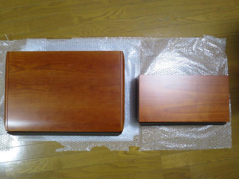 S-A6CS-2とS-A5Cの大きさを比較(上から)