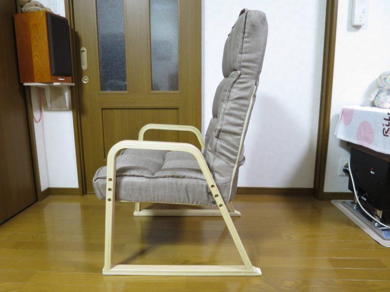高座椅子「LIXILビバ VHZ-TH」 リクライニングの確認(立)