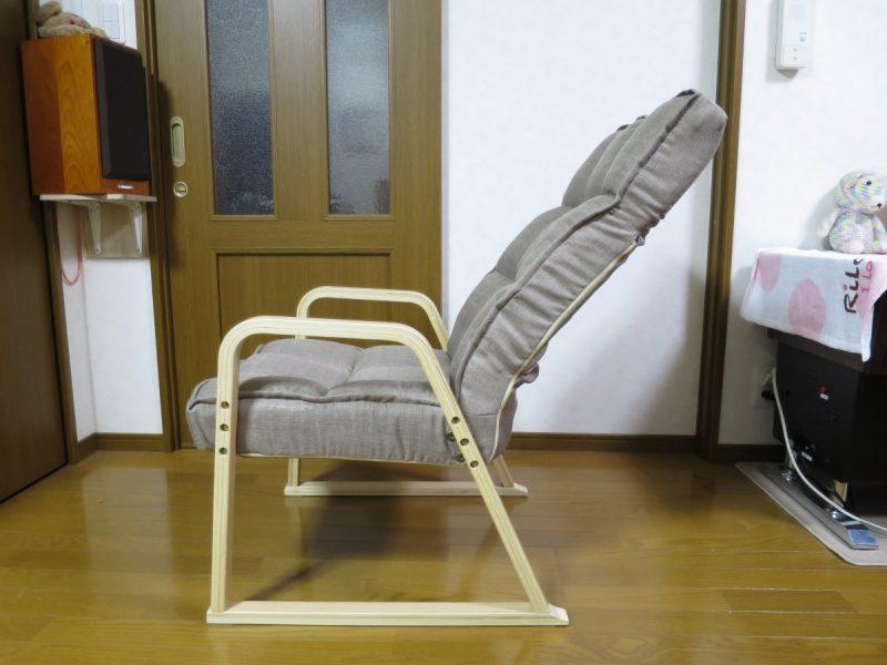 高座椅子「LIXILビバ VHZ-TH」 リクライニングの確認(寝)