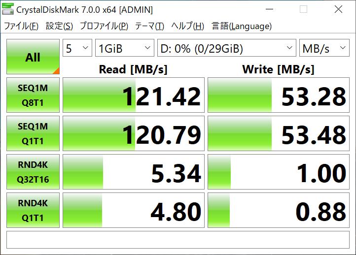 CristalDiskMark 7 (JetFlash 720 32GB)