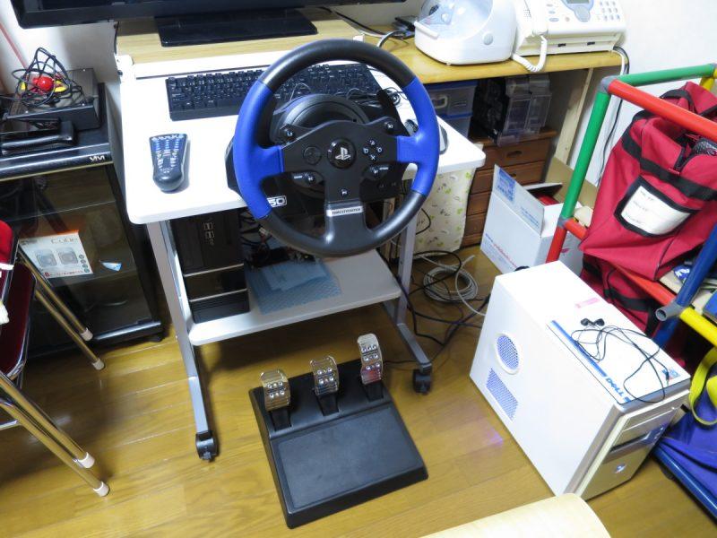 Thrustmaster T150 ProをPCデスクに設置