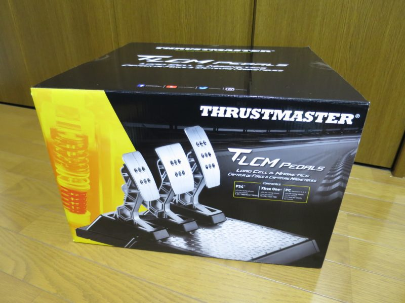 Thrustmaster T-LCM_Pedalsの箱