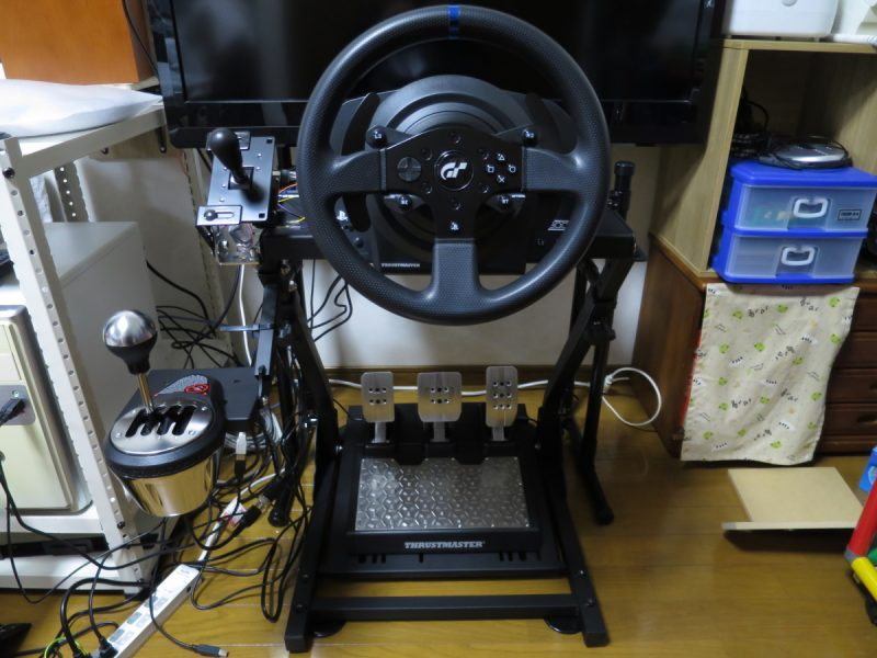 AP2 Racing Wheel StandへのThrustmaster T-LCM_Pedals設置例